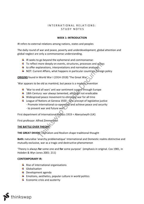 ARTS1810 - Final Exam Notes 2015