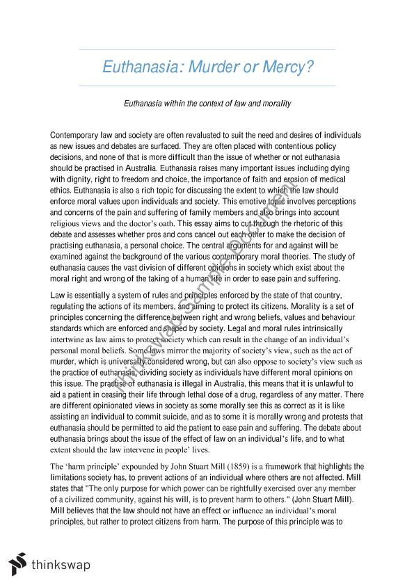 Write A Good Thesis Statement For An Essay Euthanasia Essay  Law And Morality What Is The Thesis In An Essay also What Is A Thesis In An Essay Euthanasia Essay  Law And Morality  Slss  Law And  Essay About Good Health