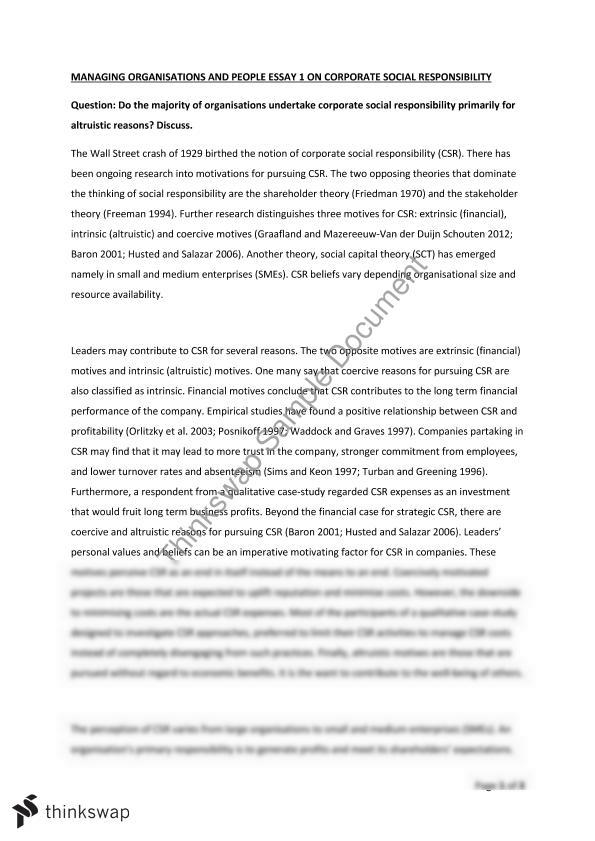 Proposal Essays Essay On Corporate Social Responsibility Essay On Pollution In English also How To Write An Essay With A Thesis Essay On Corporate Social Responsibility  Mgmt  Managing  Essays On Science