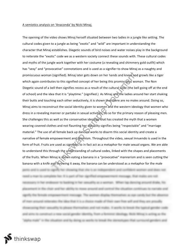 Short Essays In English Essay Analysis On A Semiotics Music Video Examples Of Thesis Statements For Argumentative Essays also Essay On Healthy Foods Essay Analysis On A Semiotics Music Video  Gcst  Introduction  Columbia Business School Essay
