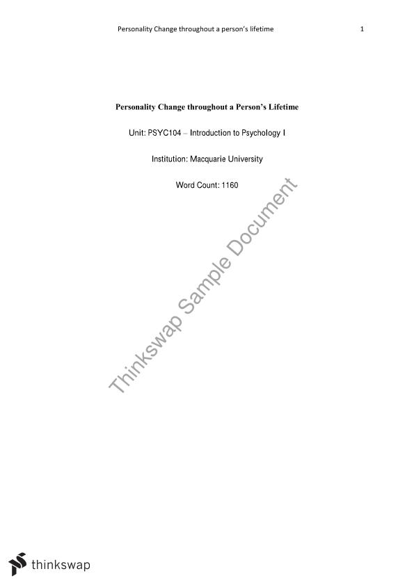 big five personality traits theory essay Big five personality traits essay sample  the big five personality traits are the most basic dimensions that shape the construction of human personality and .