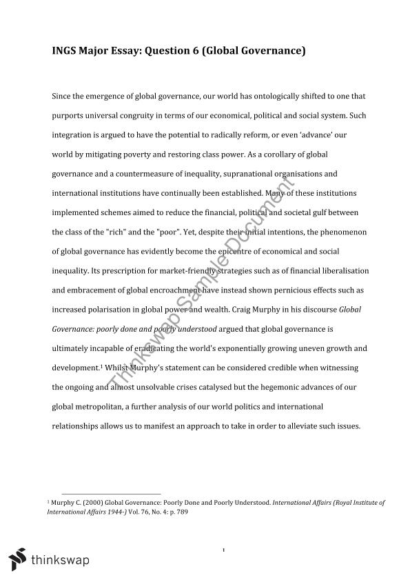 inequality in the world essay