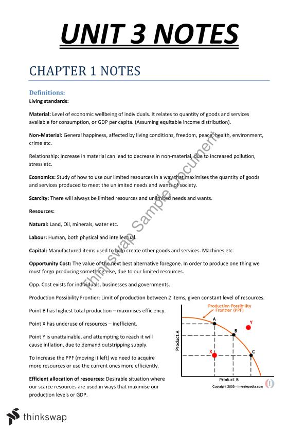 Complete VCE Unit 3 & 4 Economics Notes! | Year 12 VCE