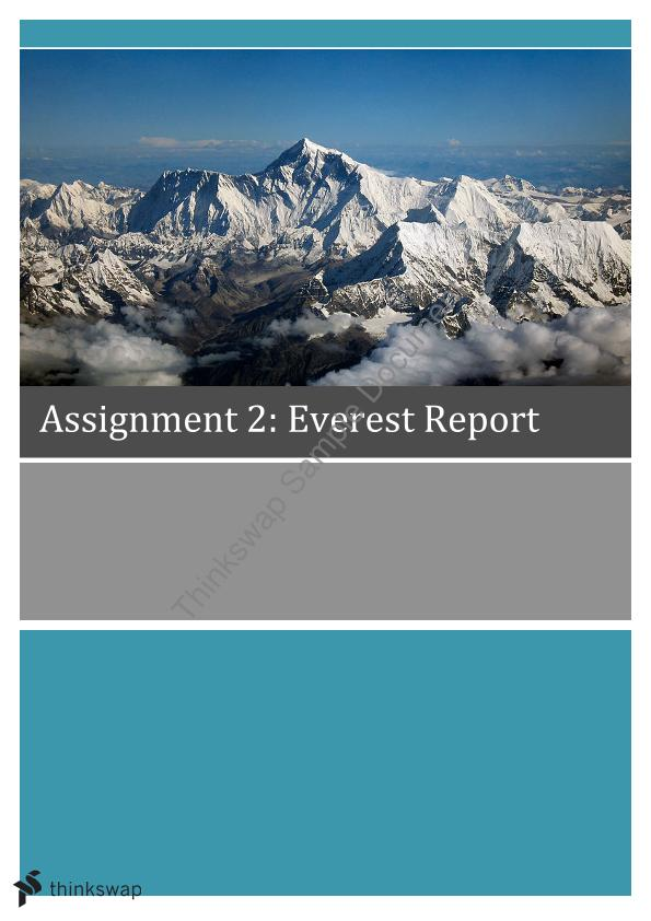Everest Report - Page 1