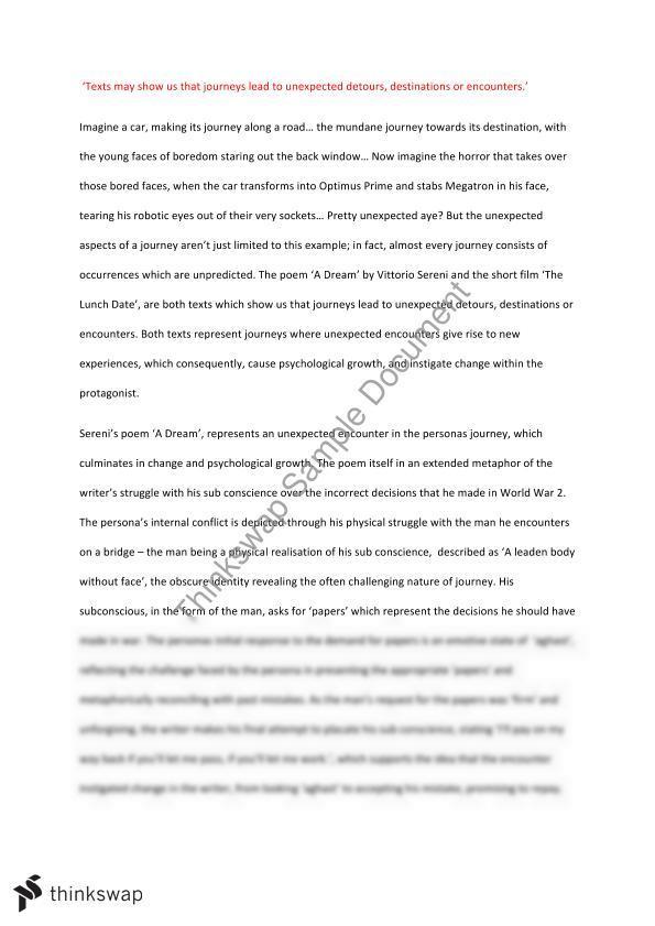 Reflective essay criteria
