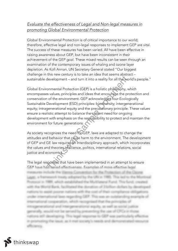 safeguarding the environment essay