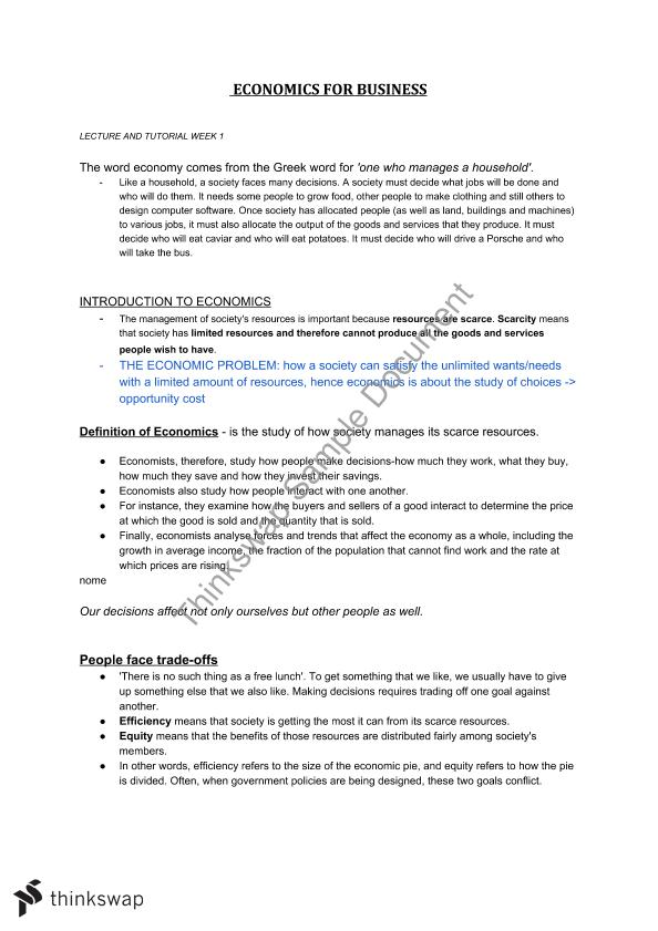 Economics for Business Notes