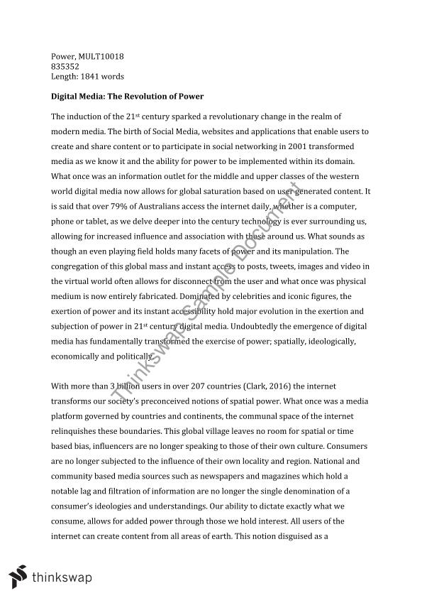 Write my essay on power of media in the modern world