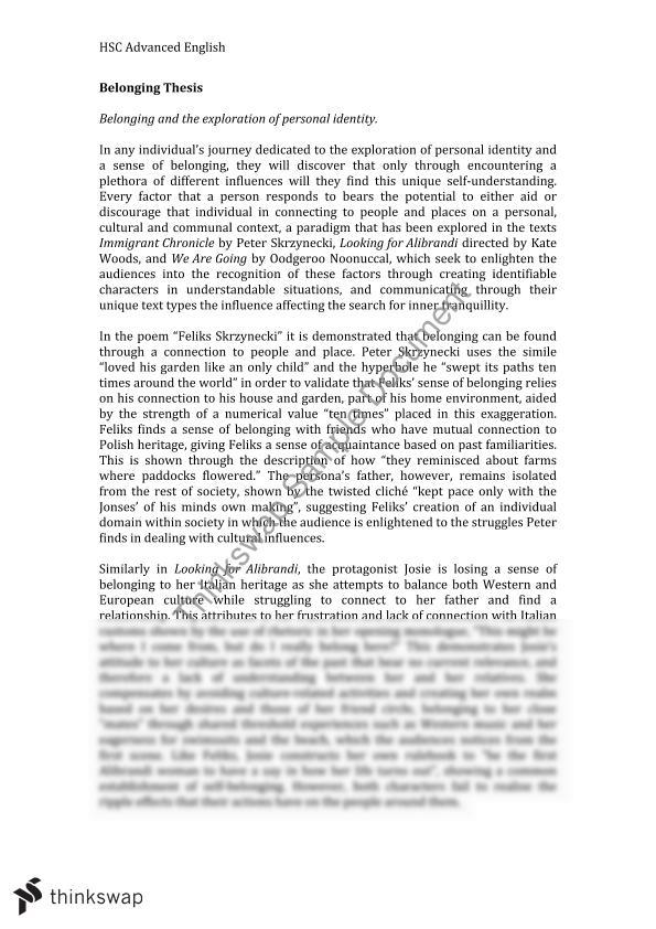 belonging thesis statements skrzynecki Any guide to essay writing will tell you what an introduction should do for example: what is an introduction paragraph the introduction paragraph is the first paragraph of your essay what does it do it introduces the main idea of your essay a good opening paragraph captures the interest of your reader.