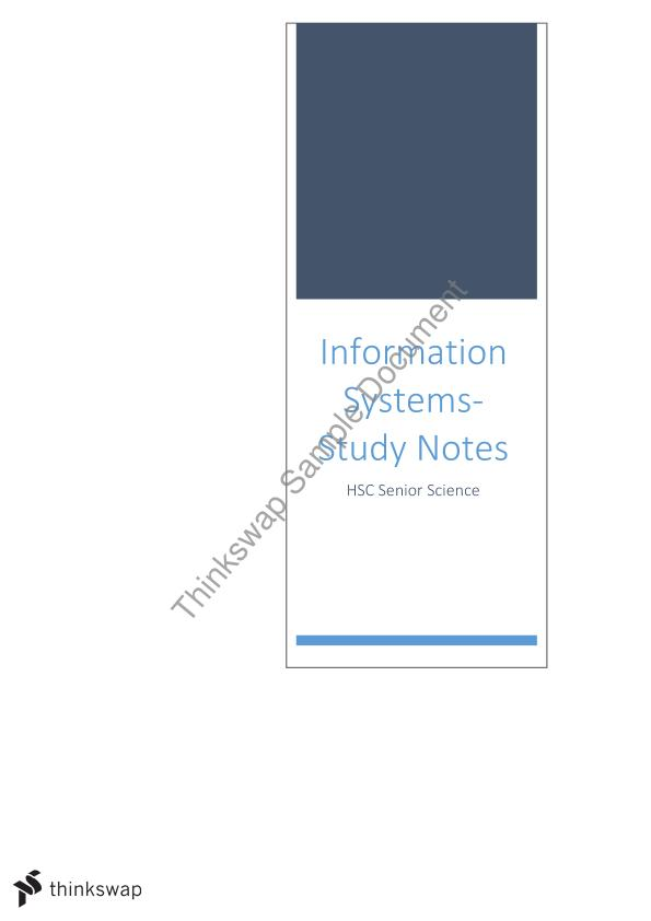 Complete Notes on Information System