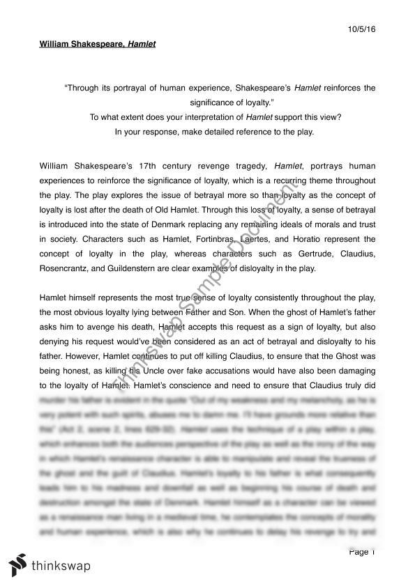 past hsc hamlet essays Read a band 6 hamlet essay written by a student hamlet is studied in module b of the hsc english advanced course | lorienglish hsc.