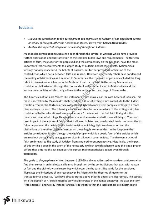 judaism explained essay