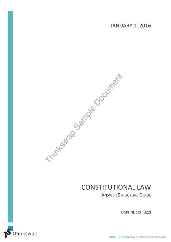 Constitutional Law Answer Guides (Whole Unit)