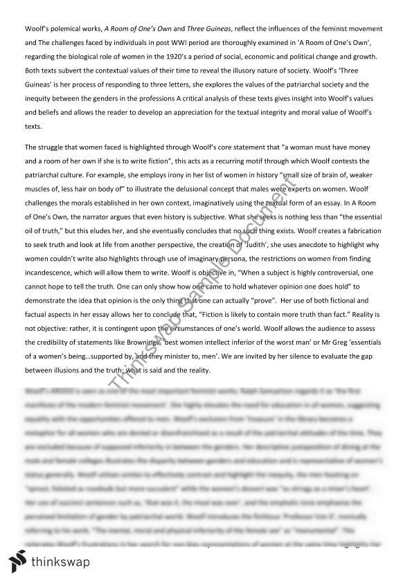 virginia woolf essay year hsc english advanced thinkswap virginia woolf essay