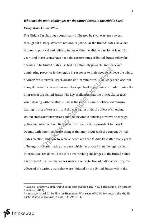 essay on united states involvement in middle east pol  essay on united states involvement in middle east