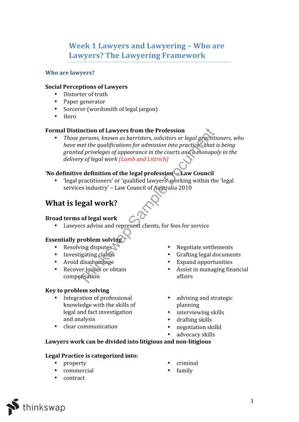 LLB 197 Complete Final Exam Notes   LLB1197 - Ethics and