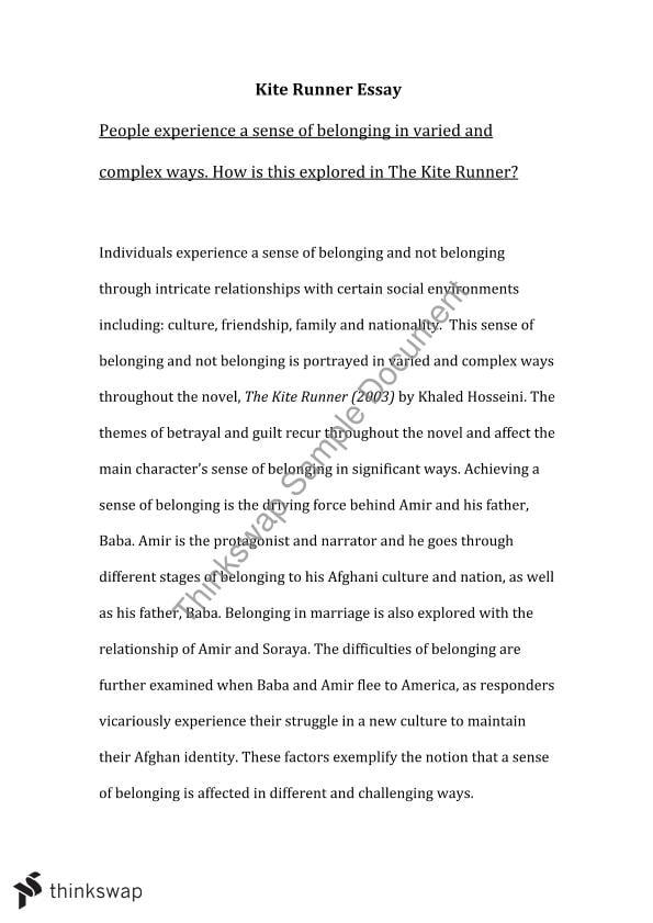 the kite runner critical essay