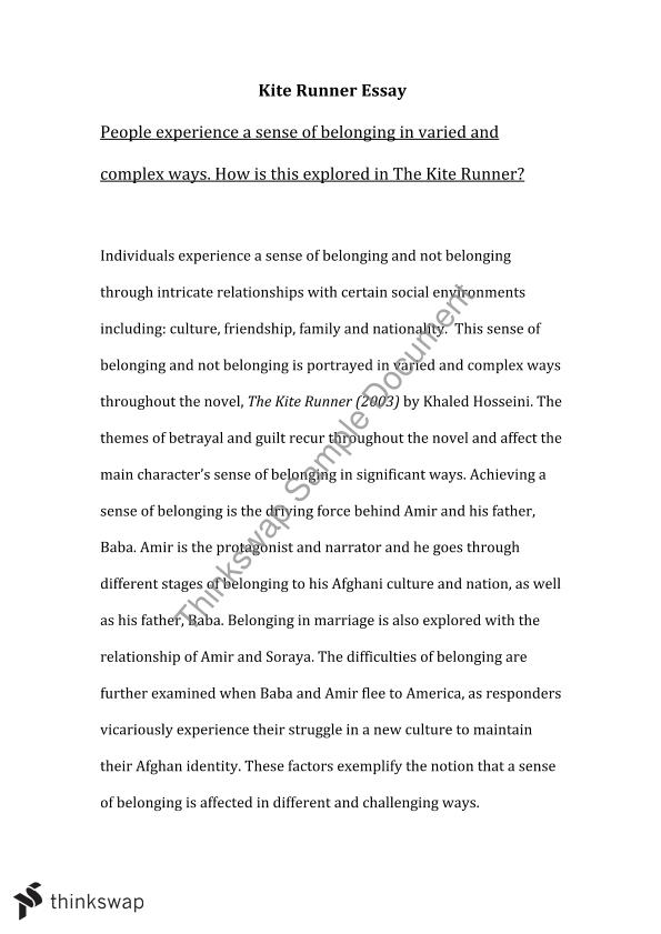 Kite runner essay year 11 hsc english advanced thinkswap