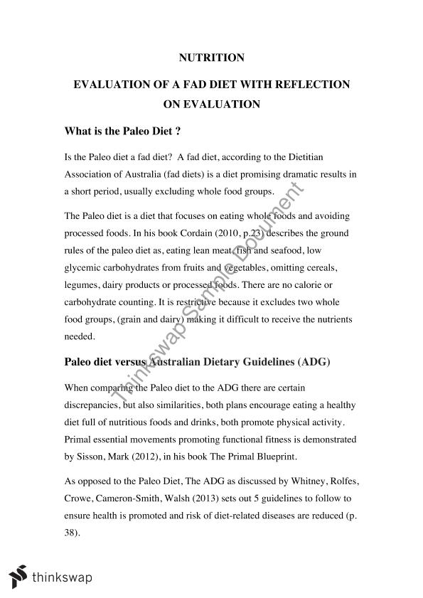 evaluation of diets essay Diets classification essay: diets when many people think of diets to lose weight, they get overwhelmed by the number there is to choose from on the market everywhere we look, we see all kinds of new diets that people are coming up with in order to lose weight.