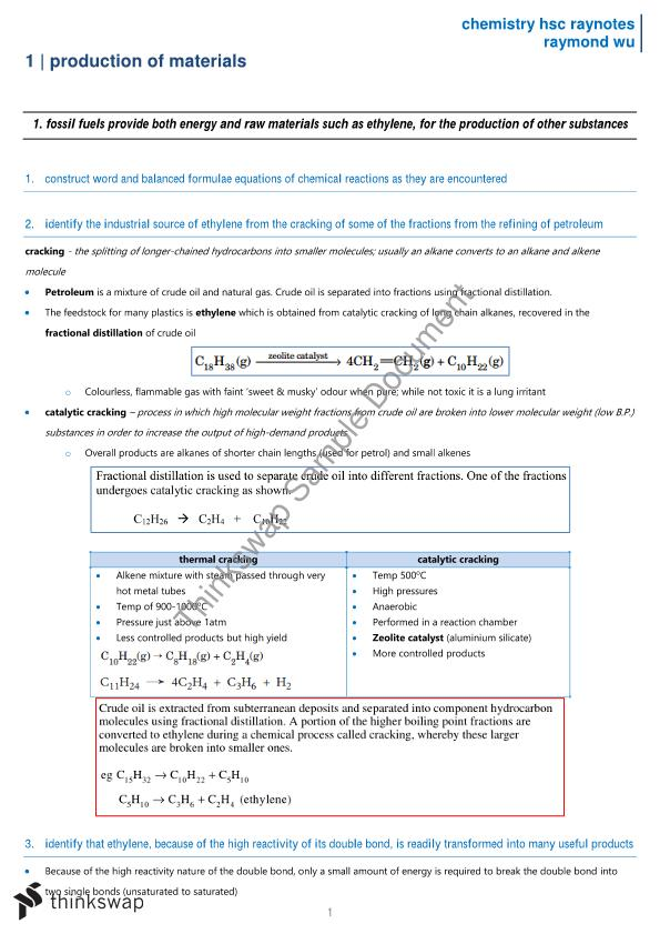 Complete HSC Chemistry Notes
