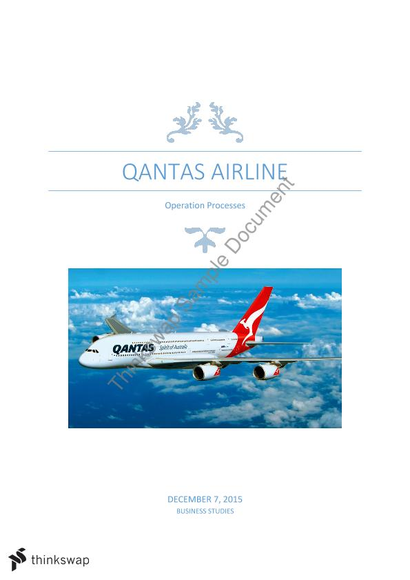 qantas business report essays