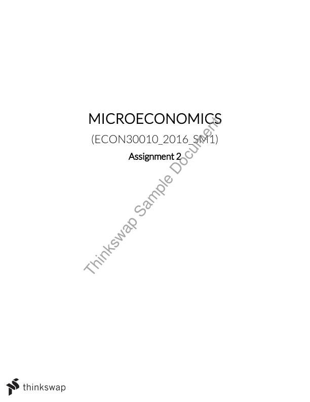 microeconomics assignment 1 Econ 402 advanced topics in microeconomics  this is a course in advanced  microeconomic theory students  assignment 1 assignment 2 assig 2 key.
