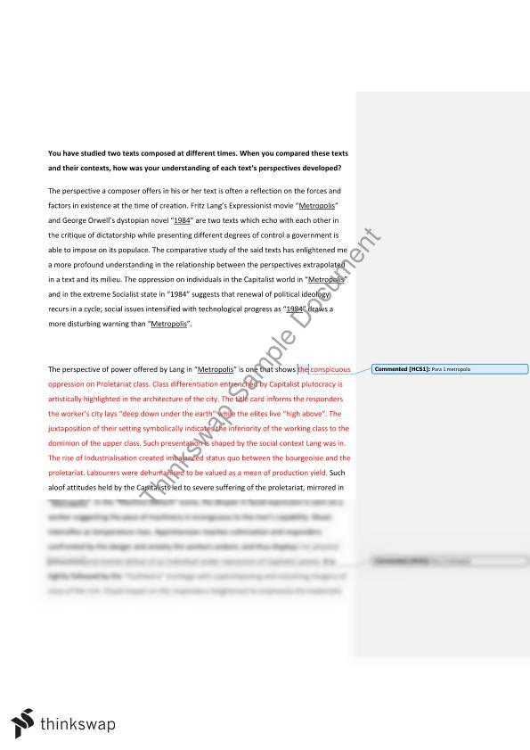 metropolis and hsc essay power and control year hsc metropolis and 1984 hsc essay power and control