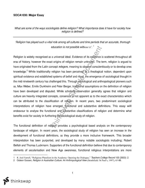 a definition of the sociological concept essay Definition of sociological imagination sociological theories describe causes and effects of human behavior study the social life, and society above definition displays two concepts: human being at the micro level and society at the macro level.