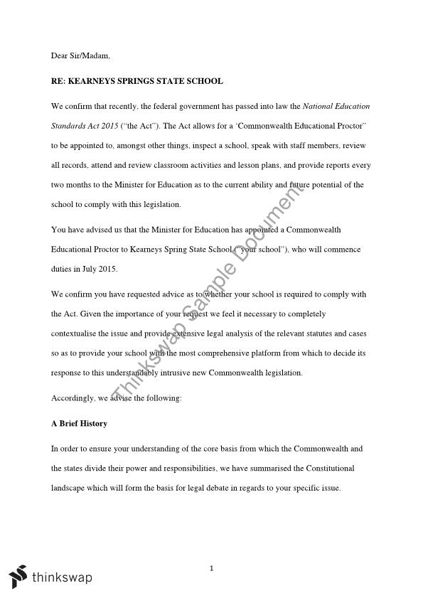 Science Topics For Essays Letter Of Advice Essay Example Essay Thesis Statement also Examples Of Thesis Statements For Argumentative Essays Letter Of Advice Essay  Law  Constitutional Law  Thinkswap Proposal Example Essay