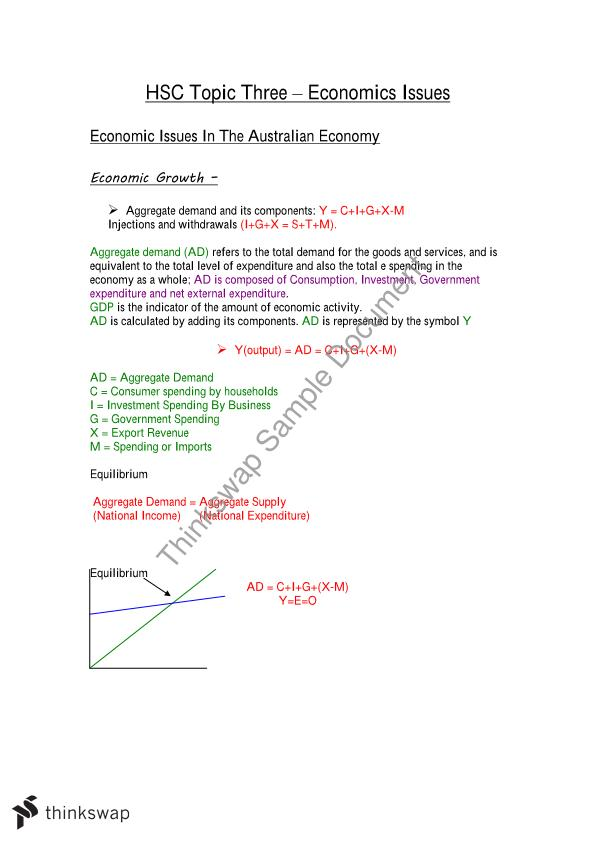 Notes about Economic Issues