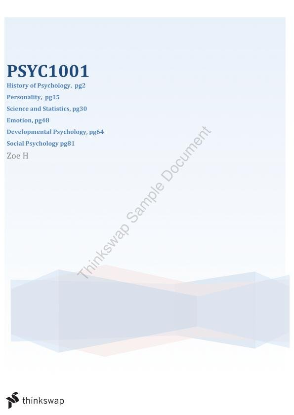 psyc 1001 2012 psychology 1001 manual 2 science and statistics in psychology 1 the role of science in psychology 2 distinguishing scientific theories and explanations from pseudo-science.
