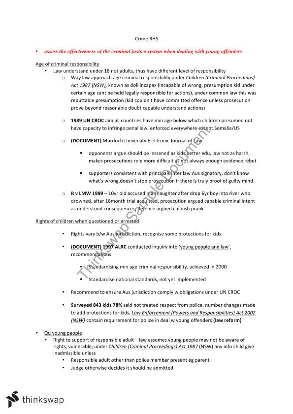 legal studies crime notes Australasian legal information institute  australian crime prevention,  maritime studies 1999-2008.