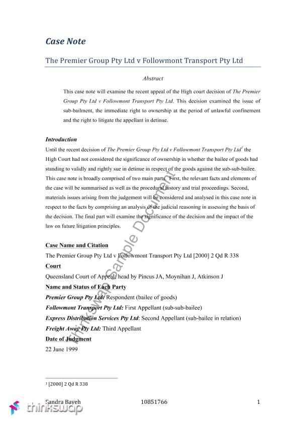 case note - commercial law