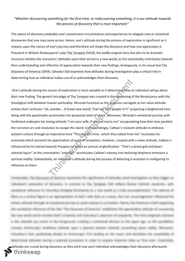 discovery essay area of study year hsc english advanced  discovery essay area of study