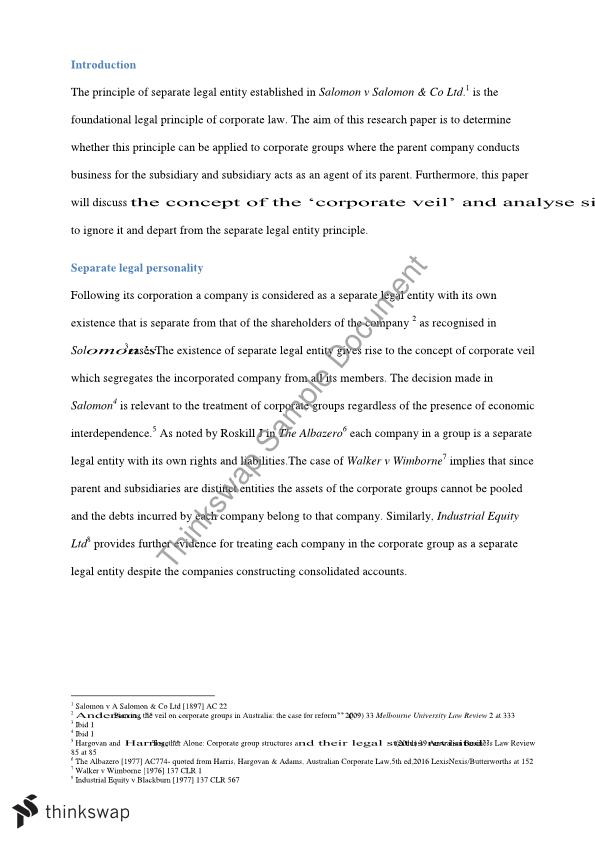 business law term paper outline