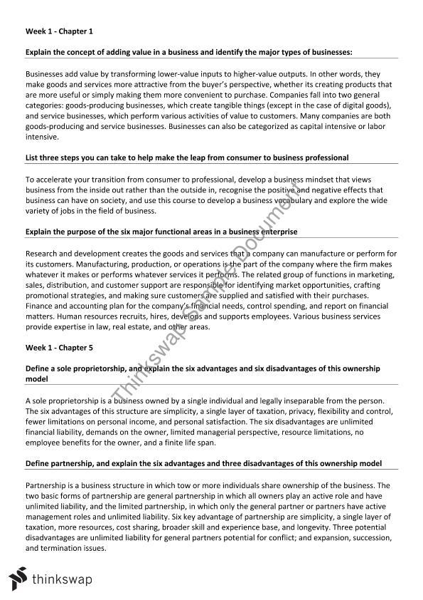 buss1001 essay