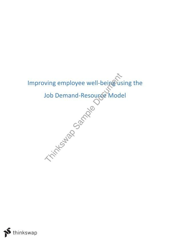 MGB200 Leading Organisations - Case Study (JD-R Model) 2016 (7)