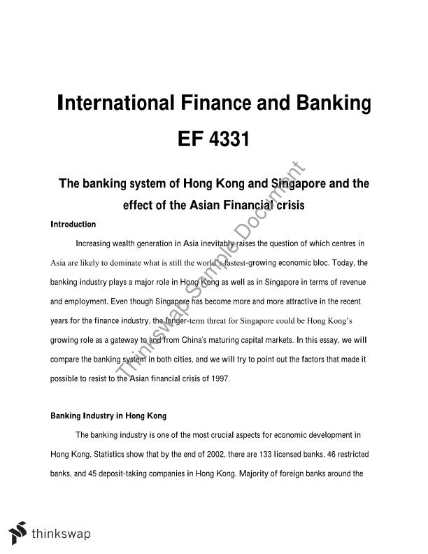 essays on international finance Finance and economic essays - topics and info for students writing essays on finance and economics.