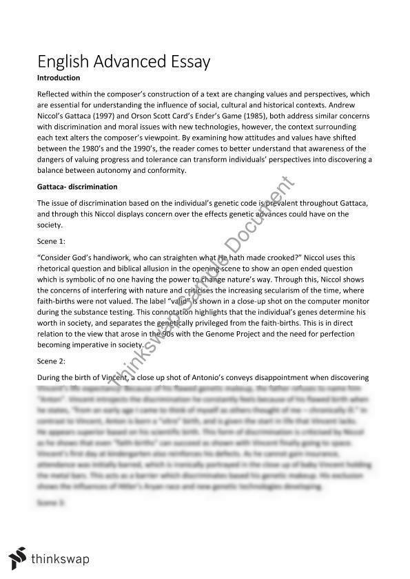 gattaca dystopia essay