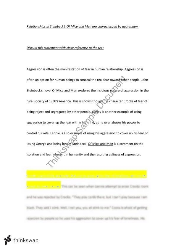 Good Essay Topics For High School Essays Of Mice And Men Of Mice Men Essay Lonely Characters  Essay For High School Application also Thesis Statement For Education Essay Of Mice And Men Essays  Romefontanacountryinncom Example Essay English