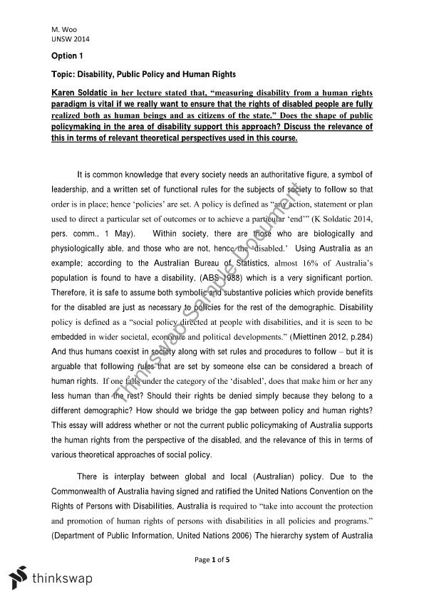 srap final essay public policy in the area of disability srap1000 final essay public policy in the area of disability