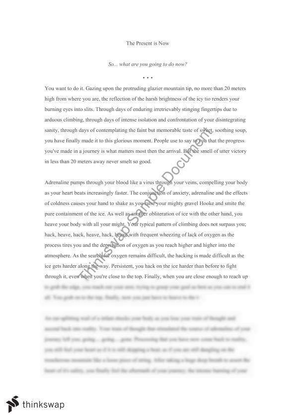 Creative writing journey essay