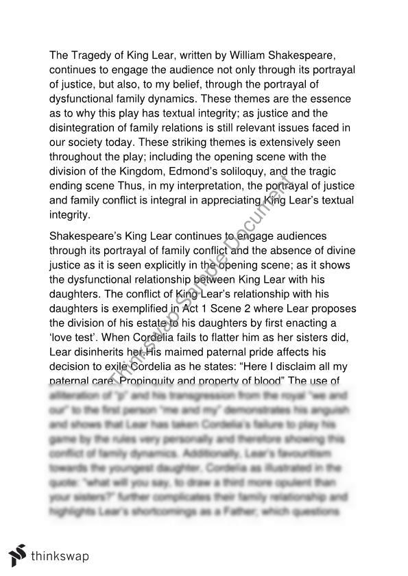 king lear an example of critical reading For further information on the critical and stage history of king lear, see sc, volumes 46 and 61 questions regarding cordelia's and lear's deaths, the nature of the king's insanity, the comic element of the play, and the gloucester sub-plot have consistently interested scholars throughout king lear's critical history.