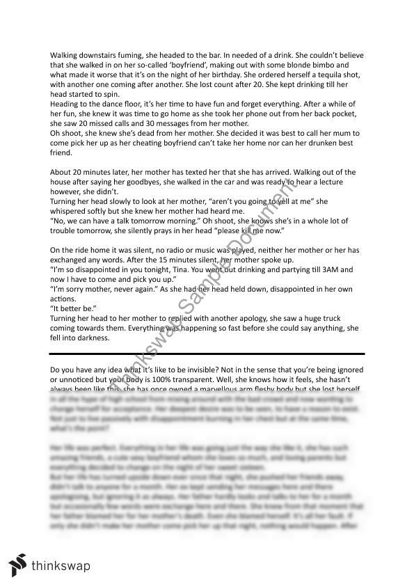 creative writing pieces on journeys 2011/06/15 i have attached copies of the three examples of creative writing that we looked at and marked in lessons the grades are not particularly high - the piece of writing with the highest grade achieved a band 3 - mark 8.