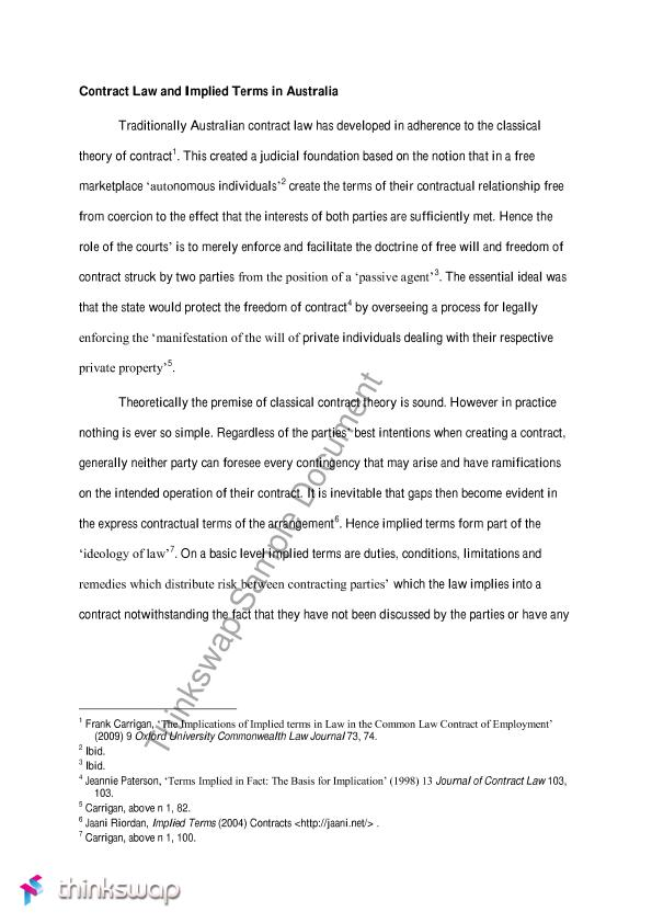 the terms of a contract essay Samples - problem questions - contract law in this section we have provided four sample answers to a problem question in contract law to illustrate how answers can differ across grades the sample answers should be read in conjunction with the assessment grading guidelines.