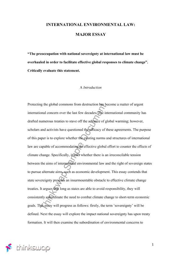 international environmental law essay law international  international environmental law essay
