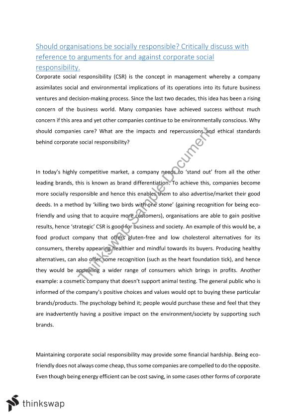 bba102 - major essay on csr