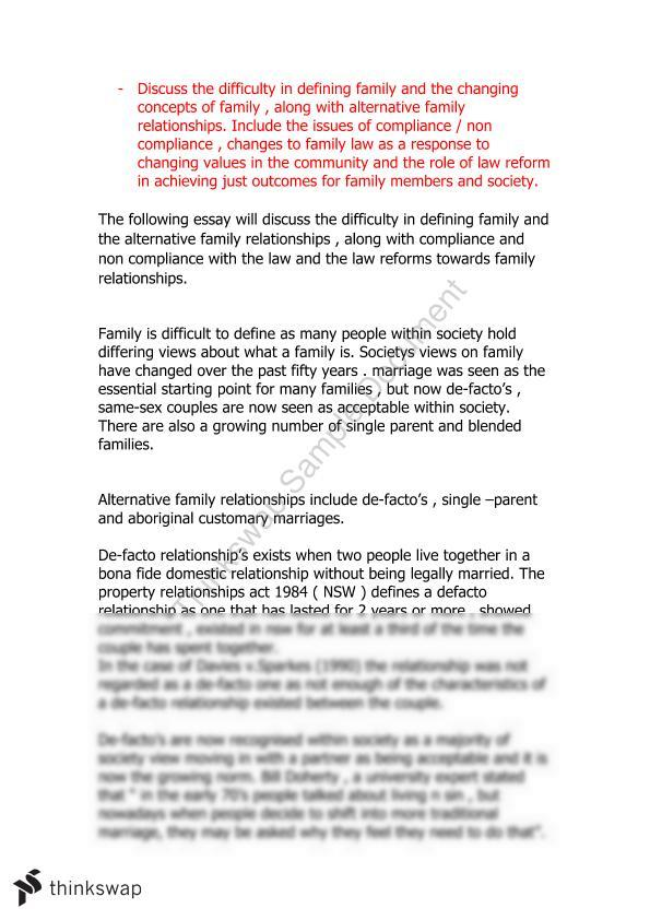Relationship with family members essay