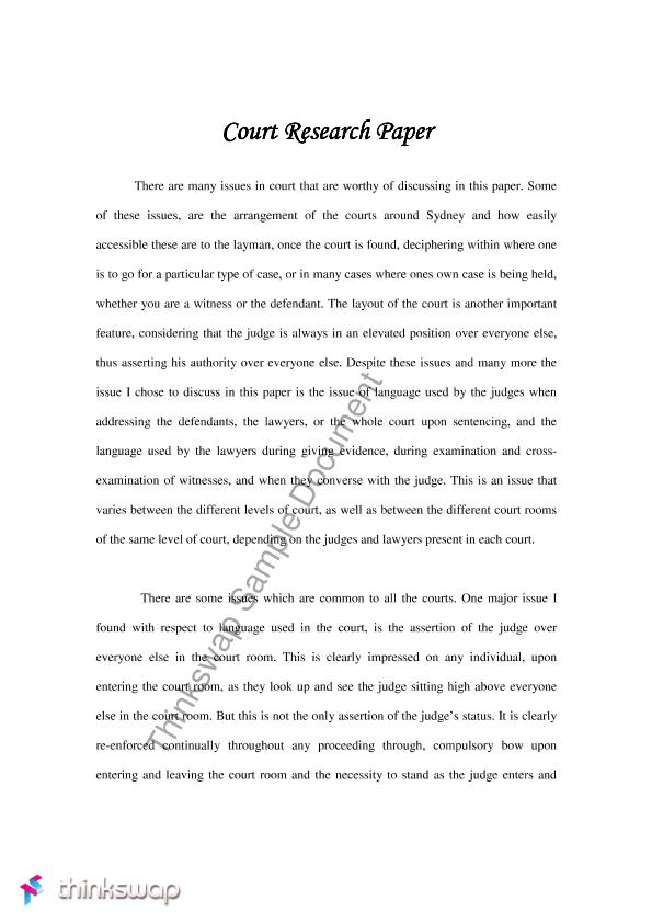 courts and trials essay In the trial court, both sides present evidence to show their version of what  happened most of the evidence presented in the trial court comes from  witnesses.