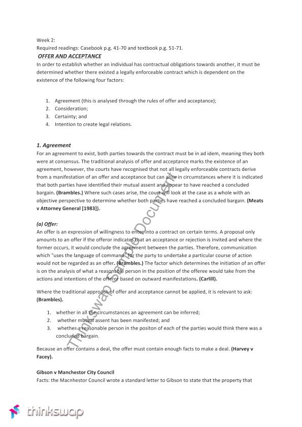 Contracts 1 S1 2012 Midsession Exam Paper